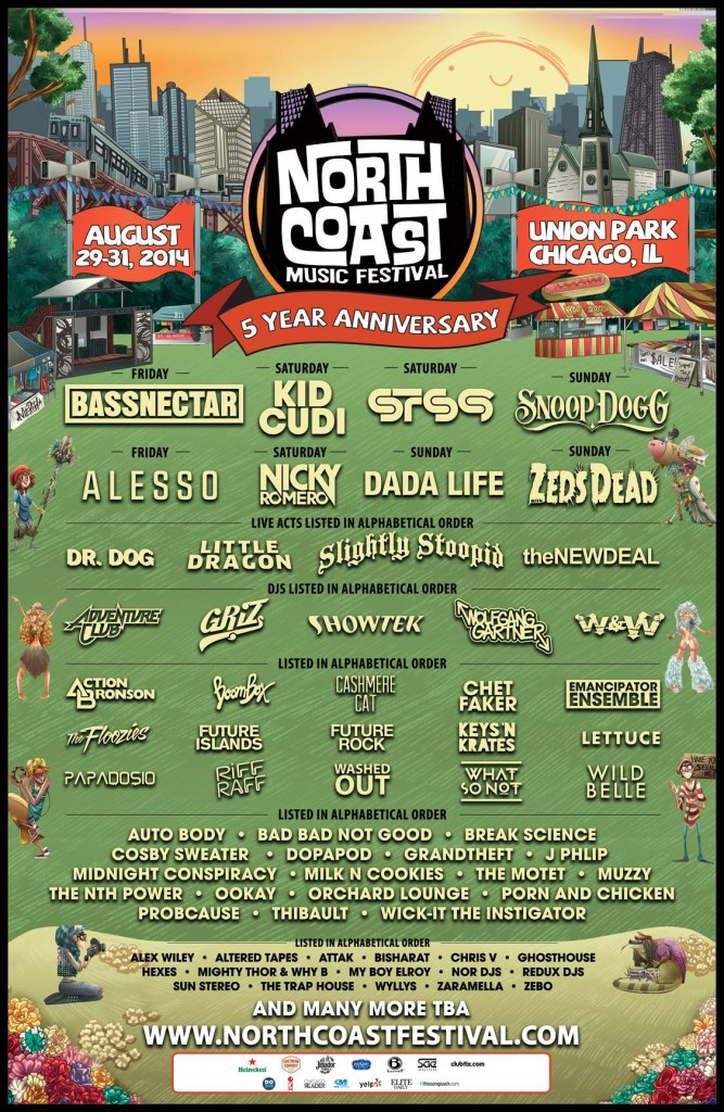 North Coast 2014 lineup